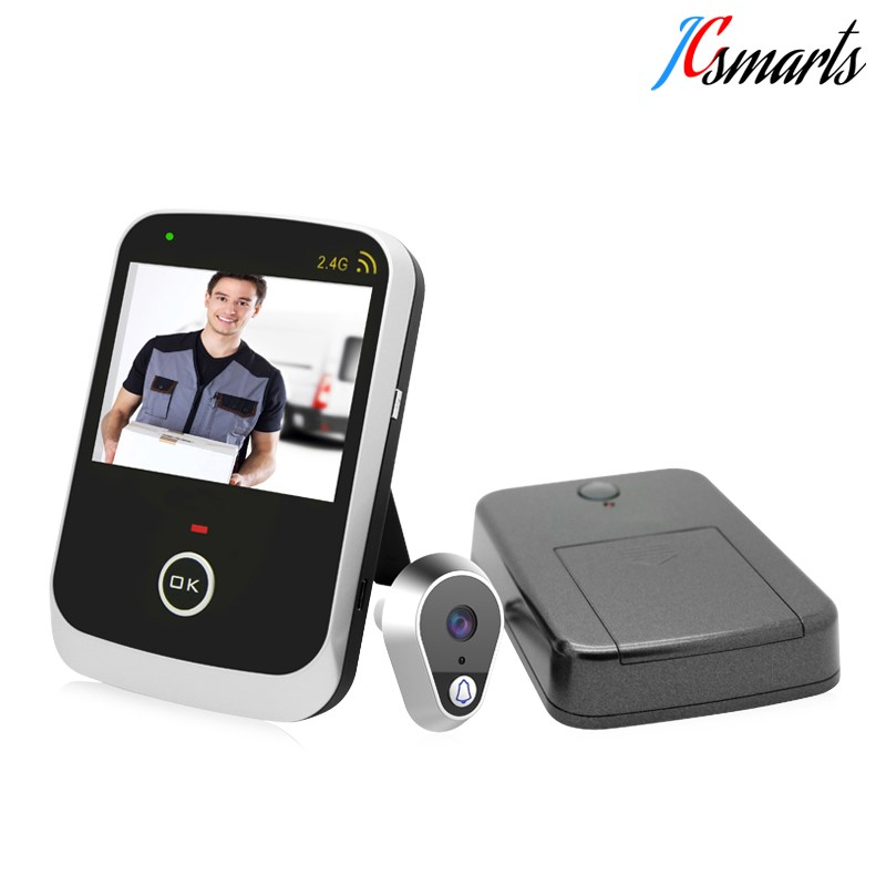 Wide angle door lens wireless 2.4G connection large screen 3.5 inch view peephole