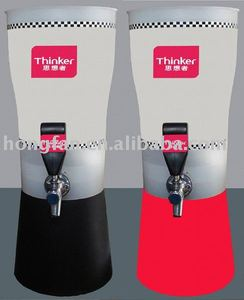 2017 ice tube beer plastic beer tower or automatic beer dispense