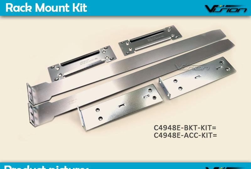 NEW C4948E-ACC-KIT Rackmount Kit for Cisco WS-C4948-E 4500 series /& 8 Screws