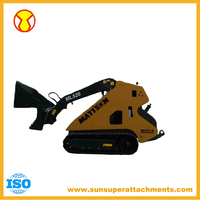 China Cheap Diesel Mini Skid Steer Loader With Attachments For Sale