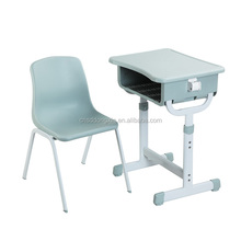 High quality study school plastic table and chair set for children Y01+KZ12
