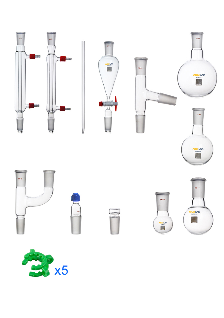 AKM LAB Chemistry Glassware Kit For Distillation