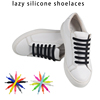 creative products 2018 manufacturer silicone shoelaces lazy for adult