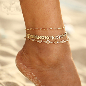 Fashion shoe card string gold designs chain beautiful foot anklet for women new 2018 Wholesale NS803682