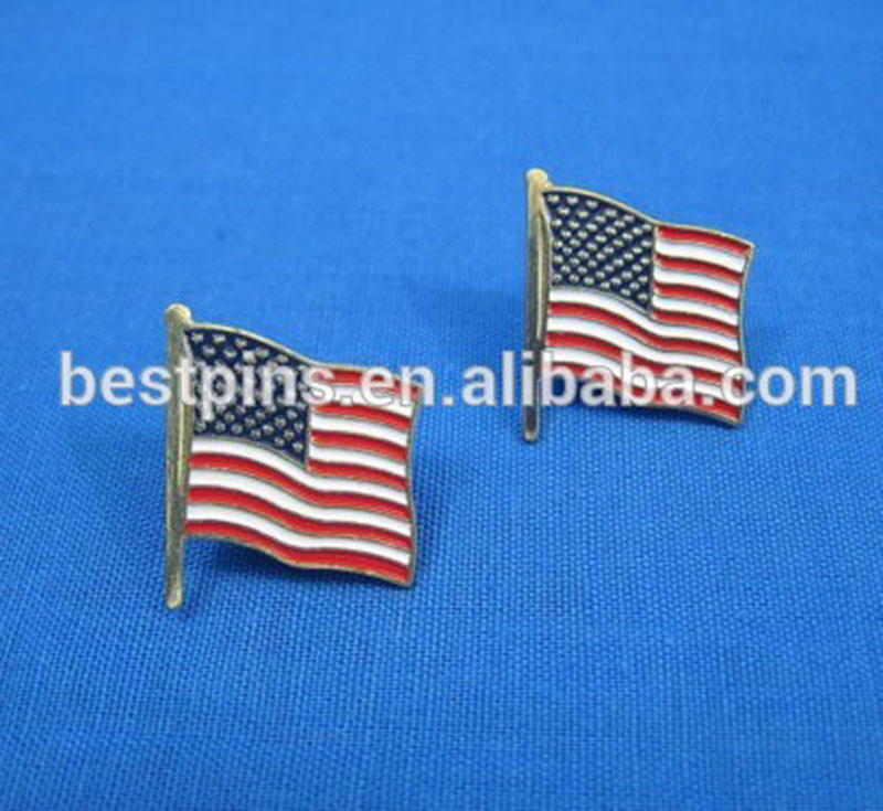 Patriotic - USA - American Flag Pin - Lapel Vest Hat Pin - Tie Tack