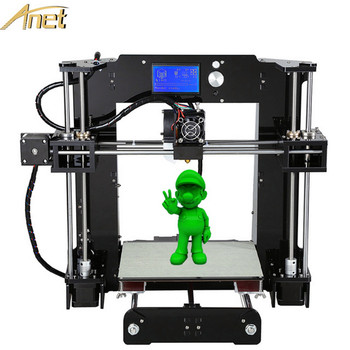Best selling Anet A6 Arduino 3d Printer 0.4 Nozzle Layer Height Industrial Cheapest 3d Printer Hotbed+16GB SD Card+Too