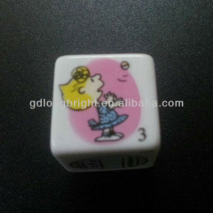 Acrylic Heat Transfer Printing Customer Color Dice