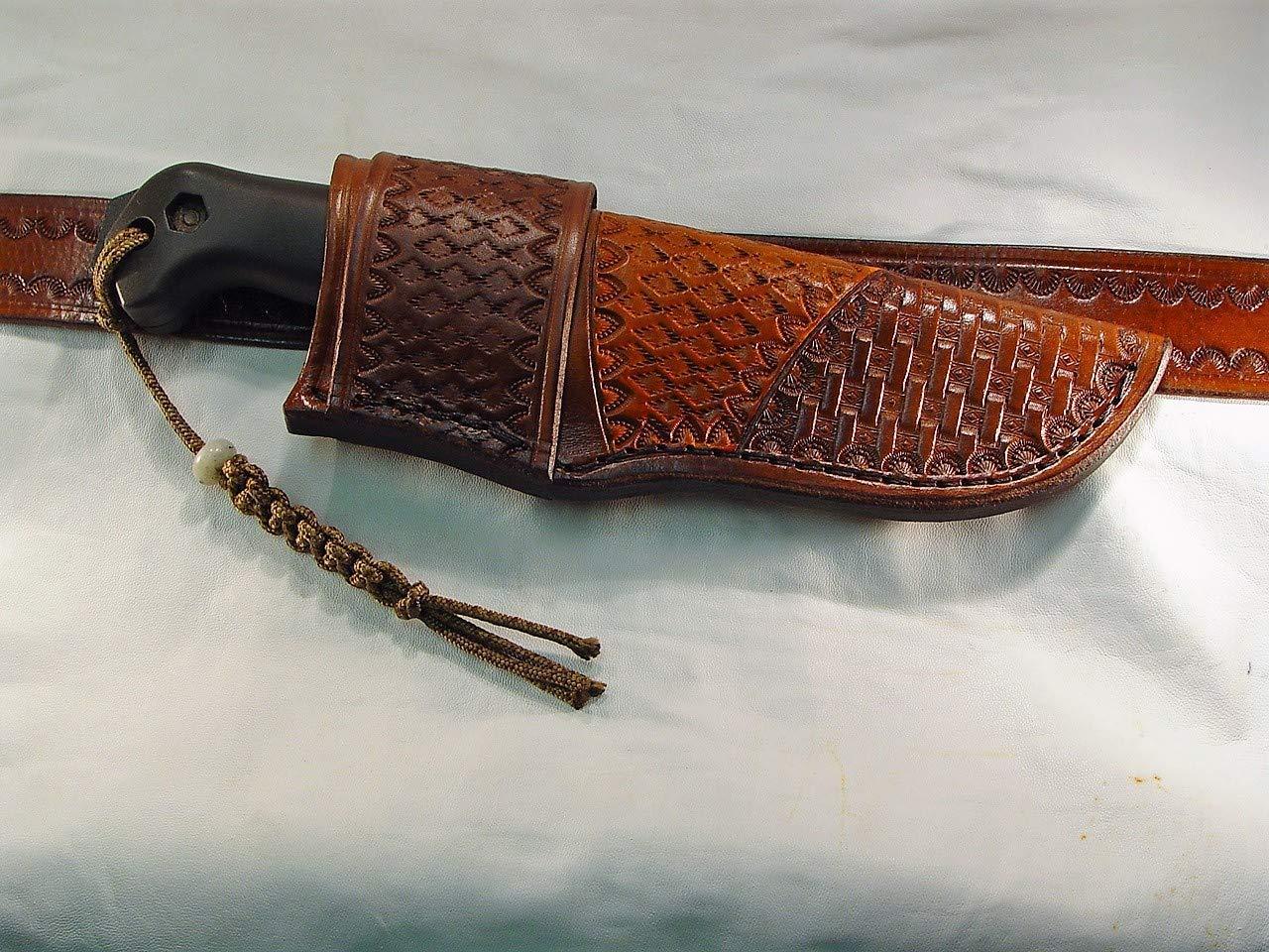 Buy Custom Leather Cross Draw Sheath For Puma Original Bowie Knife