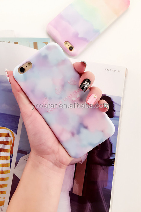 Fancy Colorful Pattern soft silicon waterproof back cover case for iPhone 6/6s/6plus case
