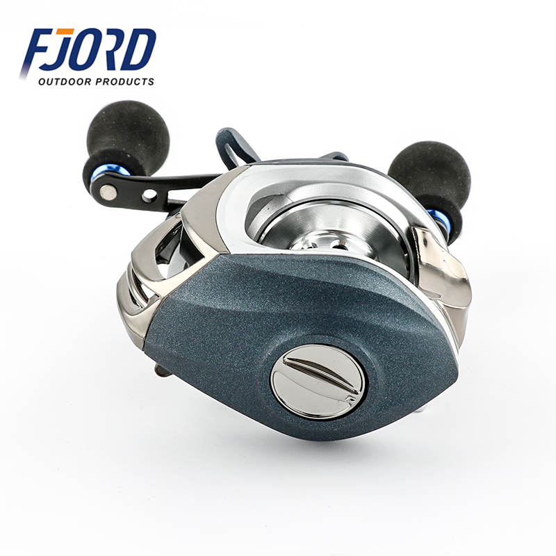 FJORD In Stock Smooth Dual Braking System 14+1BB Baitcasting Fishing Reel Low Profile Bait Casting Reel, Same as picture or customized