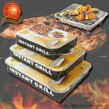 Bbq Mini Disposable Instant Grill With Diffe Size One Time Use Convenient