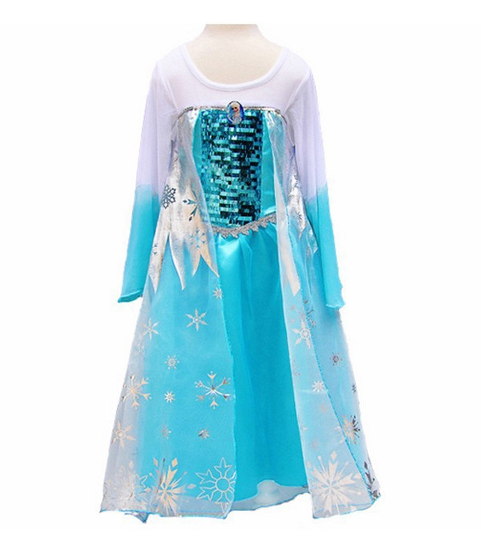summer dress girls 2015 dress elsa long sleeve toddler dress kids dresses for girls princess costume
