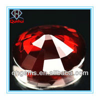 9.48 Ct. Clean Natural garnet round shaped cz stone