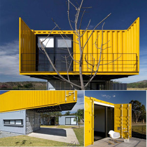 Smart folding container house / folding container shelter / folding container home