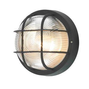 Factory direct max 100w retro waterproof bulkhead round wall light