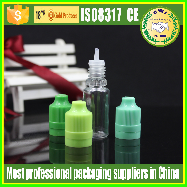 tamper evident empty e liquid bottle PET material flacon 30 ml 10ml 5ml with childproof and tamper proof caps