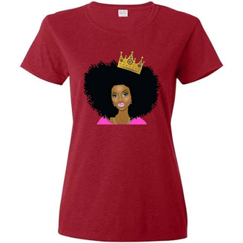 High Quality Custom Oversized Tshirt Women T Shirts Plain Red T Shirts Iron on Afro Girl