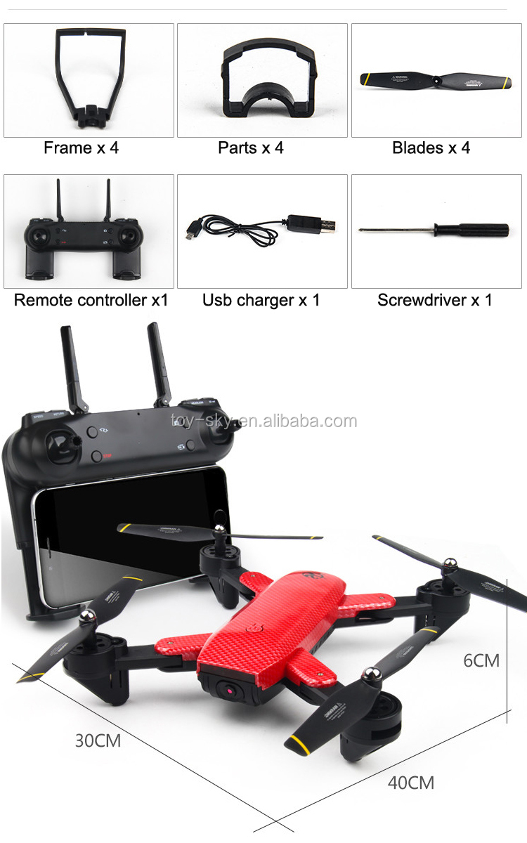 S169 WIFI FPV With Dual 2MP Camera Optical Flow Altitude Hold Mode Foldable 6 axis gyro rc quadcopter drone for Selfie