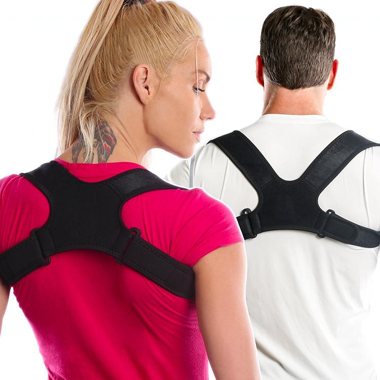 Chinese Supplier Adjustable Improve Fully Adjustable Figure 8 Back Posture Corrector & Clavicle Brace, White