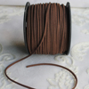 Wholesale Brown 3mm 100yards Flat Suede Korean Velvet Leather Cord String Rope Thread For DIY Bracelet Necklace Jewelry Findings