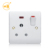 Electrical 15 amp outlet 1 gang 3 round pin switch socket