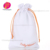 Customized white Cotton Drawstring Muslin Bags with logo printed
