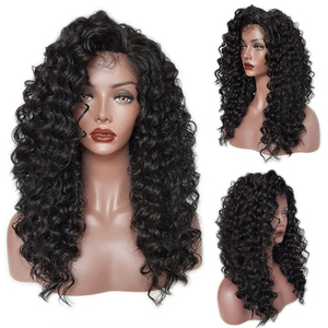 94217 Eaby Best 24 Inch Natural Long Synthetic Hair Lace Front Kinky Loose Jerry Curly Wigs for Black Women
