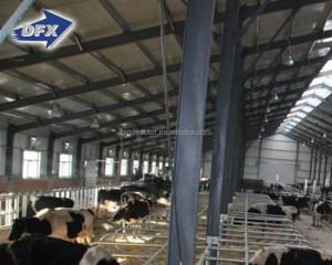 ISO Prefabricated Low Cost Light Steel Structure Cow Farm House For Sale