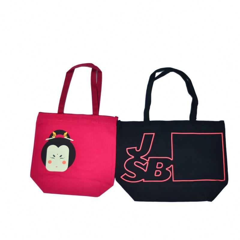 top quality black promotional cotton bag
