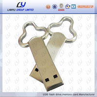Wholesale New Metal USB Flash Drive 8 16 GB USB 2.0 pen drive logo printed