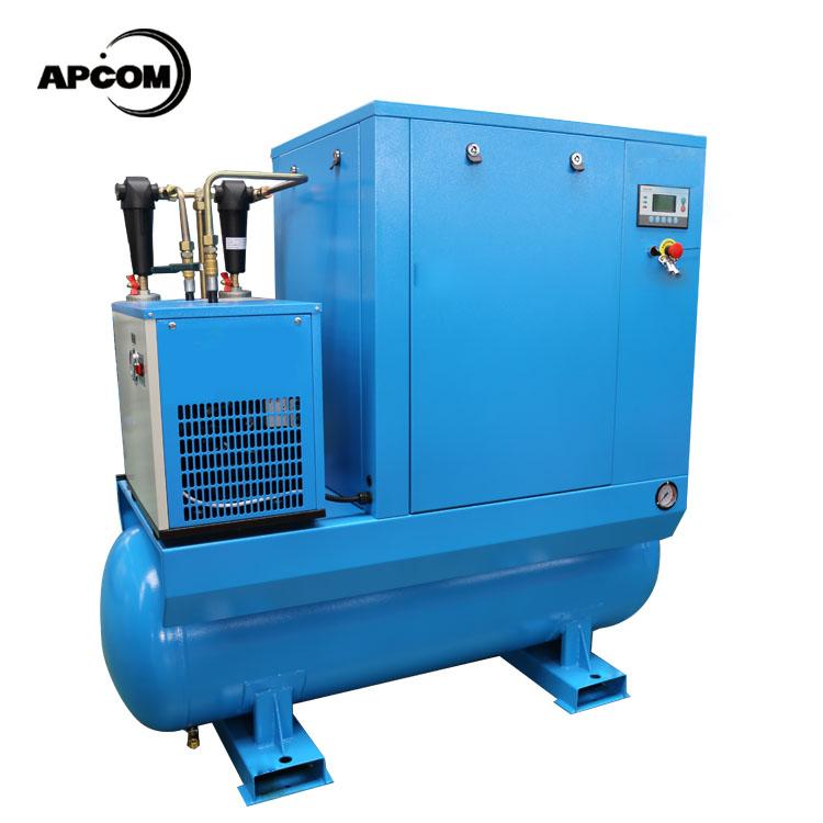 APCOM 500L pequeño compresor de tornillo con tanque de aire de 500 litros
