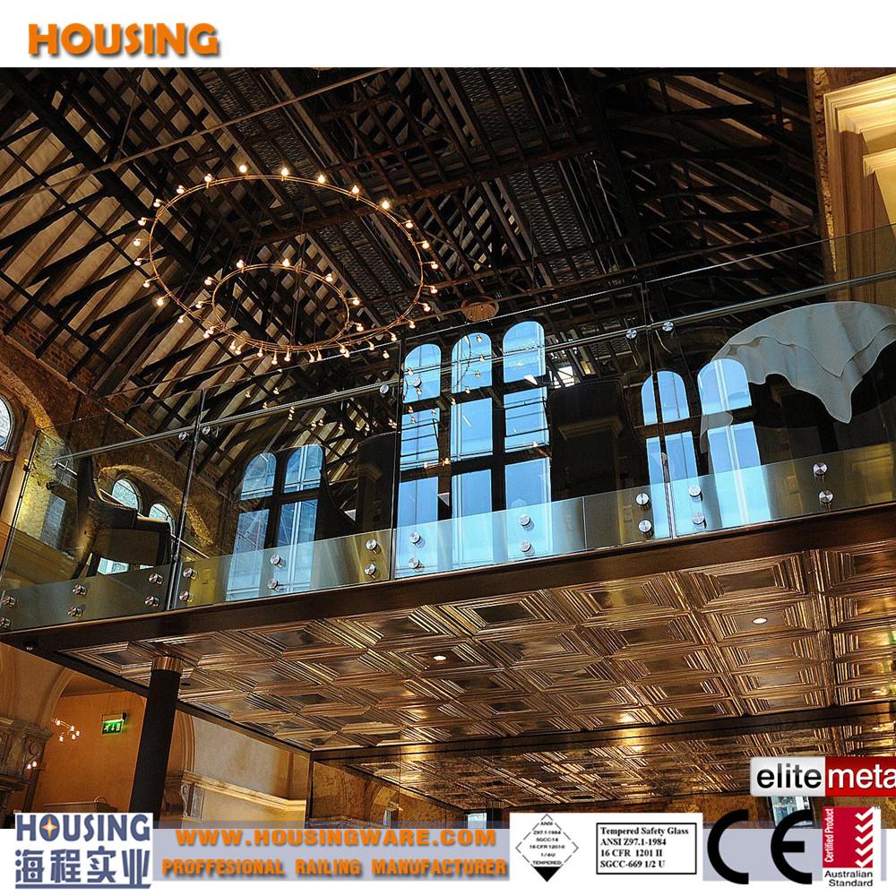 Rvs leuning glas balustrade ontwerp met standoff hardware product id 60422826496 - Ontwerp leuning ...