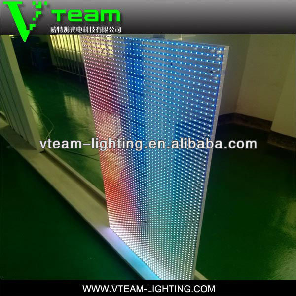 outdooor full color good advertising tools transparent glass led display