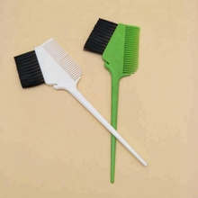 Plastic Salon Hair Dye Tint Application Coloring Brush Double Side Comb
