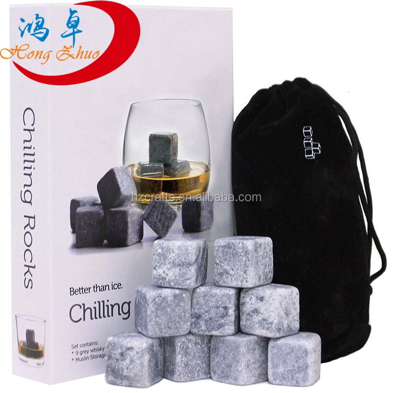 Whisky Pierres Ensemble de 8 pcs Whisky Whisky Pierres Froid Pierre Ice Cube Roches