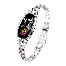 Retails H8 Women Smart 팔찌 피트니스 Bracelet Heart Rate Monitor Blood Pressure 피 산소 Smart Band 대 한 Lady