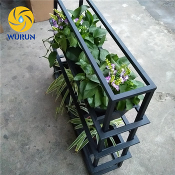 Outdoor Decorations Wrought Iron Black Rustproof Short Small Potted Rack Plant Pot Stands