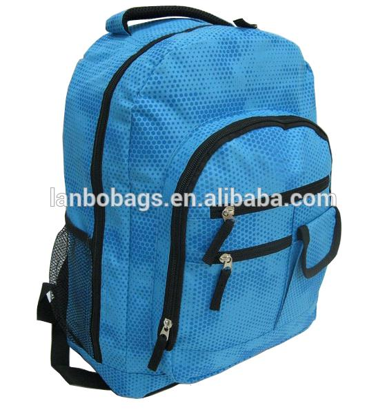 Plastic wholesale used school bags with high quality nylon teens school bag