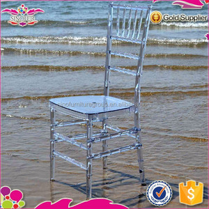 Multifunctional Sinofur newest used clear resin chiavari chair for sale