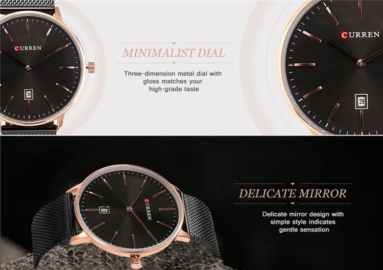 Curren 8302 Fashion Men Quartz Watch 10