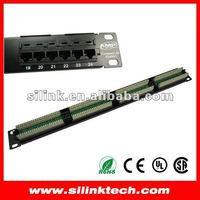 "406330-1 Amp Cat5e Patch Panel RJ45 Universal Wiring For 19"" 24 Port Rack Mount"