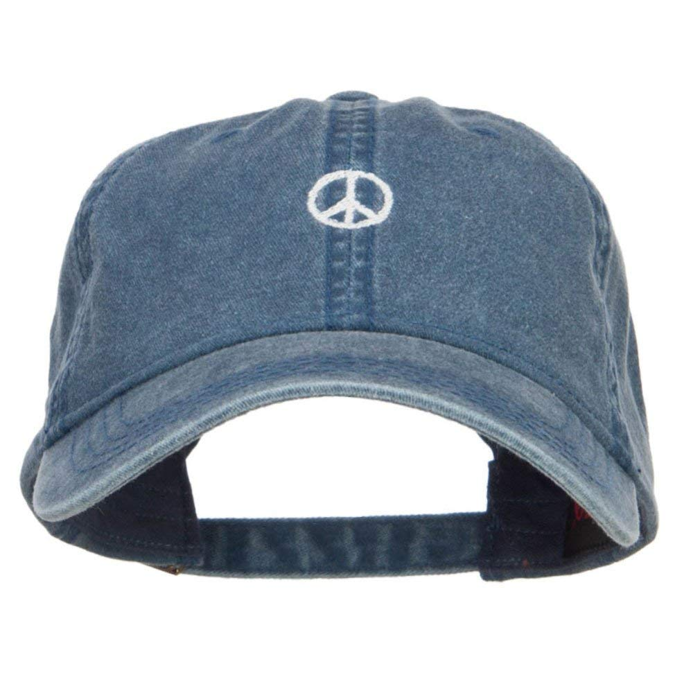 0b0150476c9 Get Quotations · Mini Peace Symbol Embroidered Washed Cap