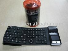 Silicone bluetooth keyboard with touch mouse ! Flexible and waterproof!