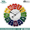 High quality wall clock funny designs ,young town quartz personalized custom logo wall clock