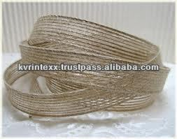 Black and white wired 100% jute ribbons