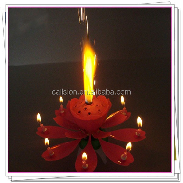 Blooming Flower Candle Fireworks with music