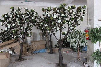 Indoor Decoration Artificial Magnolia Trees White Artificial