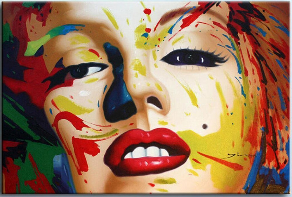 Osm Art New Hand Painted Famous Marylin Monroe Pop Art Ahmad Canvas Portrait Oil Painting Abstract Actor Acrylic Character Paintings