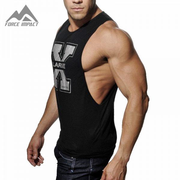 New Men s Vivid Gym Tank Tops Low Cut Armholes Vest Sexy Men s Tank Xman