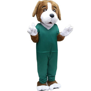 HI CE Dog costume funny adult plush dog mascot costume